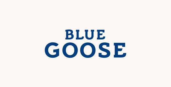 blue goose logo by ian brignell ian brignell lettering