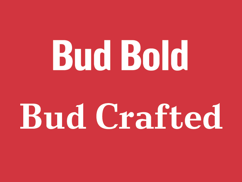 custom fonts by Ian Brignell for Budweiser
