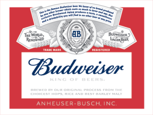 new Budweiser label (2015) by Ian Brignell