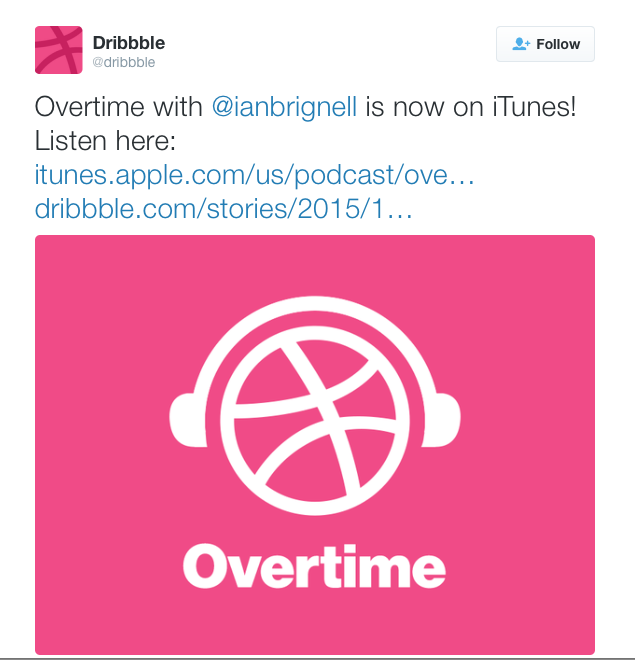 Dribble plus Ian Brignell equals Itunes podcast